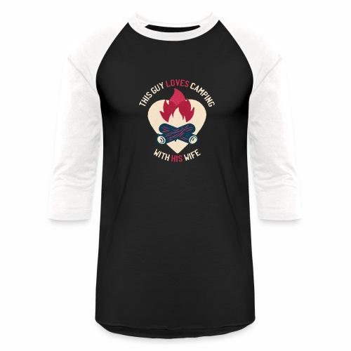 Camping tshirt02 HQ 01 - Baseball T-Shirt