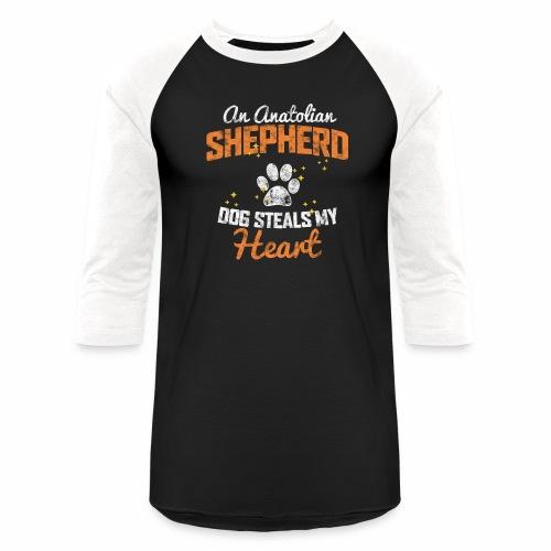 AN ANATOLIAN SHEPHERD DOG STEALS MY HEART - Baseball T-Shirt