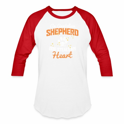 AN ANATOLIAN SHEPHERD DOG STEALS MY HEART - Baseball T-Shirt