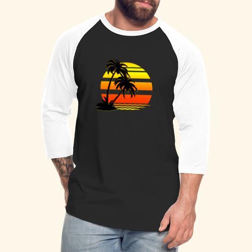 Summer Surfer California Sunset - Unisex Baseball T-Shirt