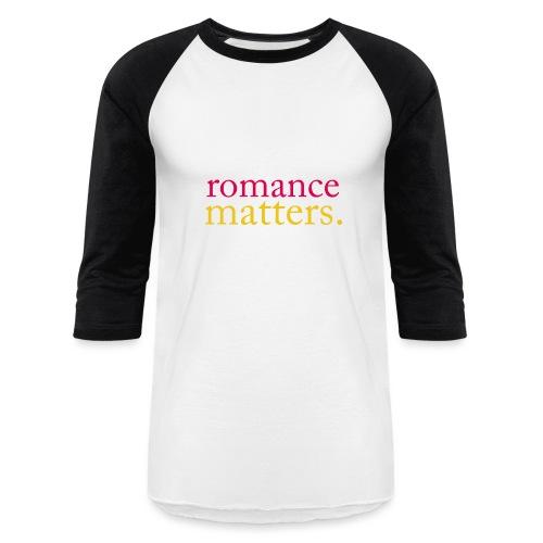 Classic Black Romance - Unisex Baseball T-Shirt