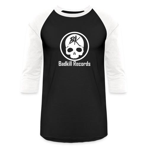 Badkill Logo White - Unisex Baseball T-Shirt