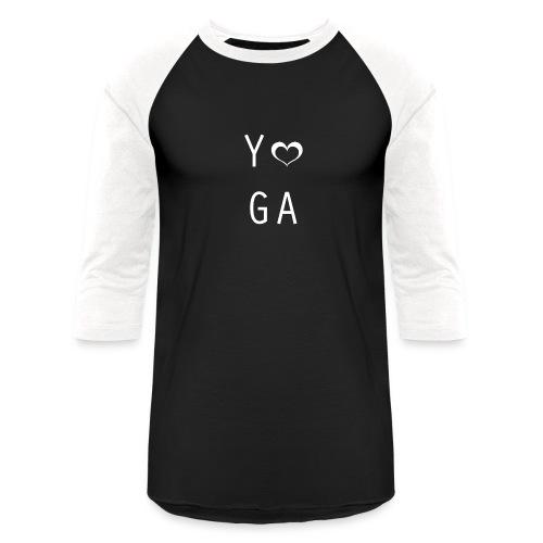 Yoga Heart Design - Unisex Baseball T-Shirt