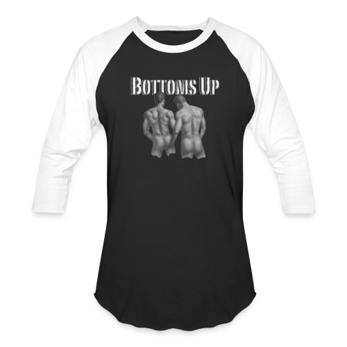bottoms up - Unisex Baseball T-Shirt