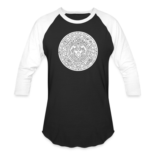 Pun's Labyrinth IX - White Stone Print - Unisex Baseball T-Shirt