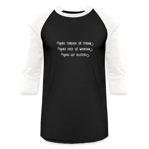 Haiku over the mountain - Unisex Baseball T-Shirt