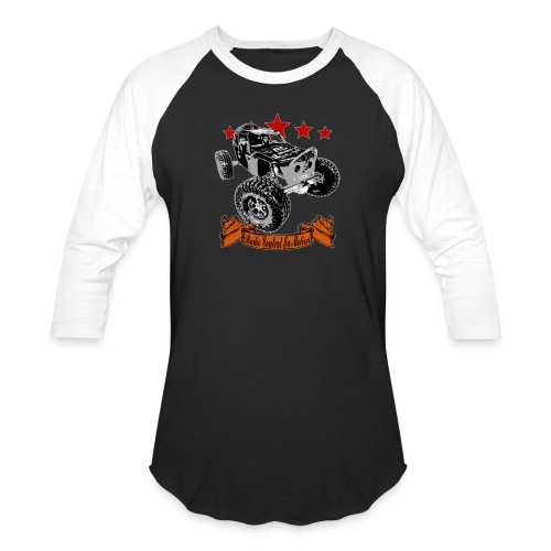 The Black WIDOW - Radio Control in Motion - Unisex Baseball T-Shirt