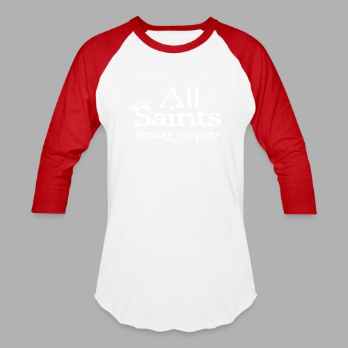 All Saints Logo White - Baseball T-Shirt
