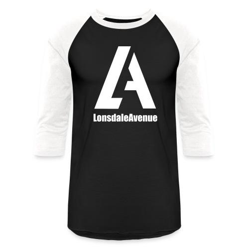 Lonsdale Avenue Logo White Text - Unisex Baseball T-Shirt