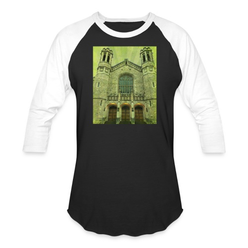 Green gothic cathedral - Baseball T-Shirt