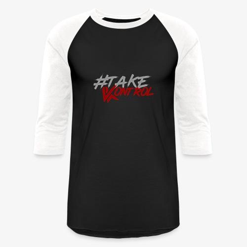 #TakeKontrol Logo - Unisex Baseball T-Shirt