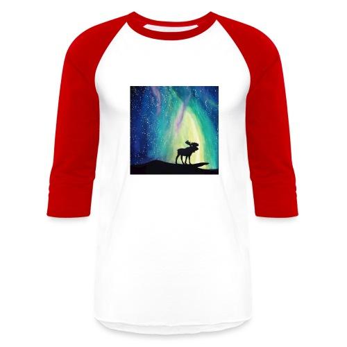 Night Moose - Unisex Baseball T-Shirt