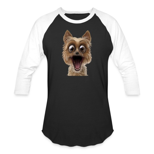 Dog puppy pet surprise pet - Unisex Baseball T-Shirt