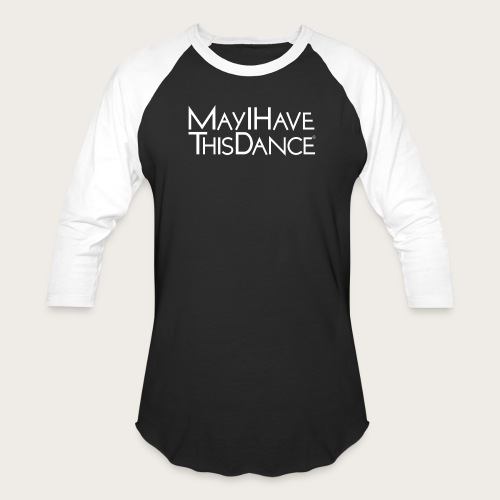 MAYI white logo - Unisex Baseball T-Shirt