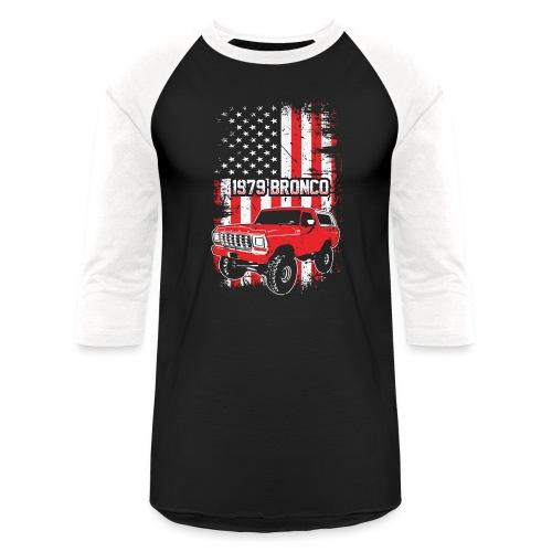 1979 Bronco Red USA T-Shirt - Unisex Baseball T-Shirt