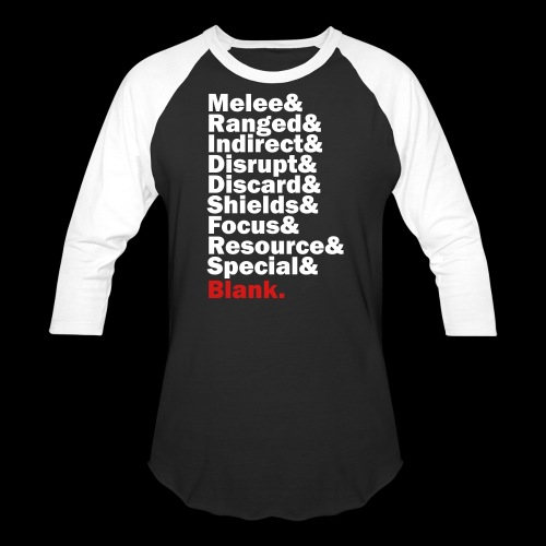 Discard to Reroll - Sides of the Die - Unisex Baseball T-Shirt