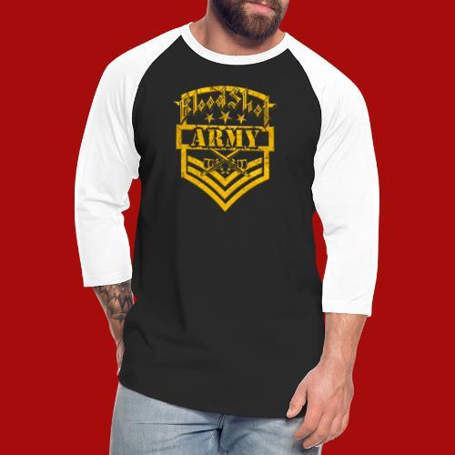 BloodShot ARMY Logo - Unisex Baseball T-Shirt