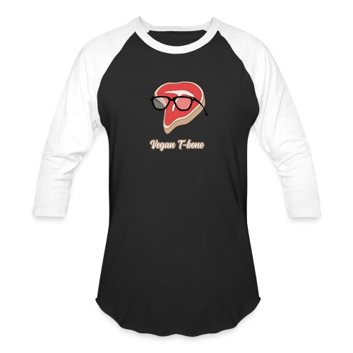 Vegan T bone - Unisex Baseball T-Shirt