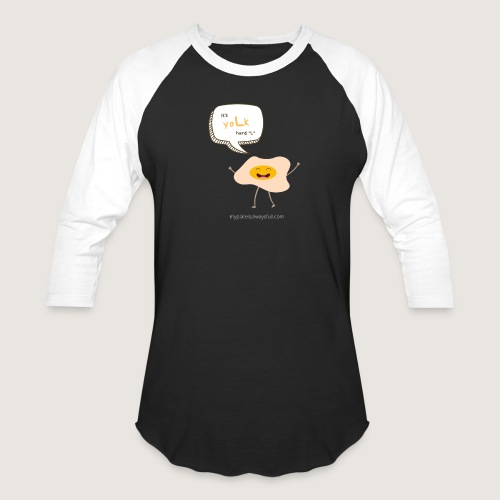 yoLk hard L - Unisex Baseball T-Shirt