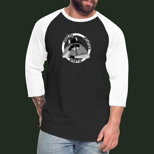 Apathy Raccoon - Unisex Baseball T-Shirt