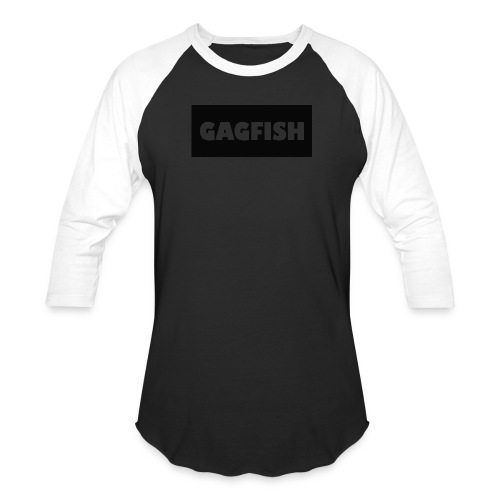 GAGFISH BLACK LOGO - Baseball T-Shirt