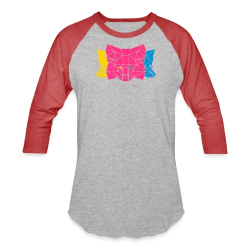 MetaMask Multi Colored Triple Head - Unisex Baseball T-Shirt