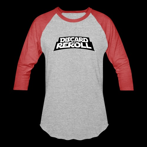 Discard to Reroll: Logo Only - Unisex Baseball T-Shirt