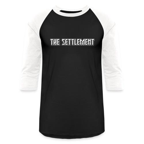 Band Name (Light, One-Color) | The Settlement - Unisex Baseball T-Shirt