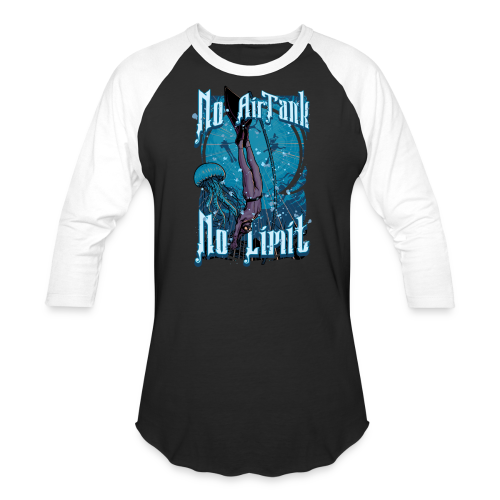 No Air Tank No Limit Freediving merchandise - Baseball T-Shirt