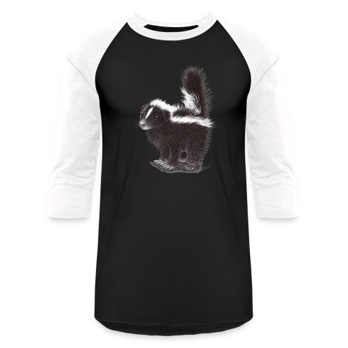 Cool cute funny Skunk - Baseball T-Shirt