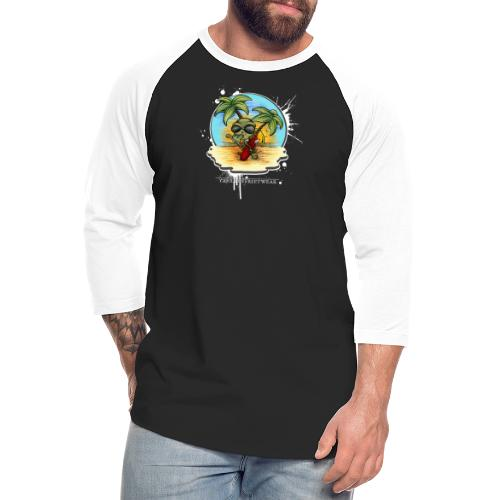 let's have a safe surf home - Unisex Baseball T-Shirt