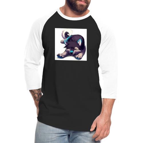 cute wolf - Unisex Baseball T-Shirt