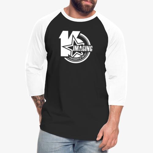 16IMAGING Badge White - Unisex Baseball T-Shirt