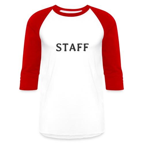 Staff - Unisex Baseball T-Shirt