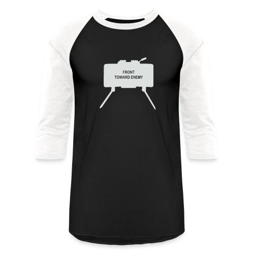 Claymore Mine (Minimalist/Light) - Unisex Baseball T-Shirt