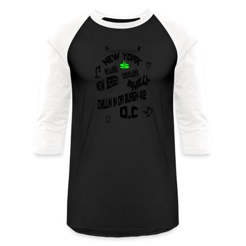 A170455+East+Coast_rev+3+ - Unisex Baseball T-Shirt