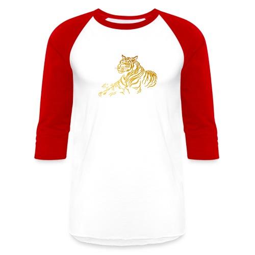 Gold Tiger - Baseball T-Shirt
