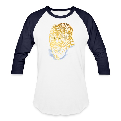 Golden Snow Tiger - Baseball T-Shirt