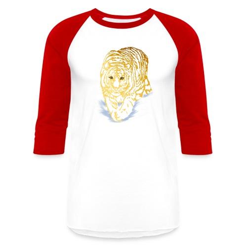 Golden Snow Tiger - Baseball T-Shirt