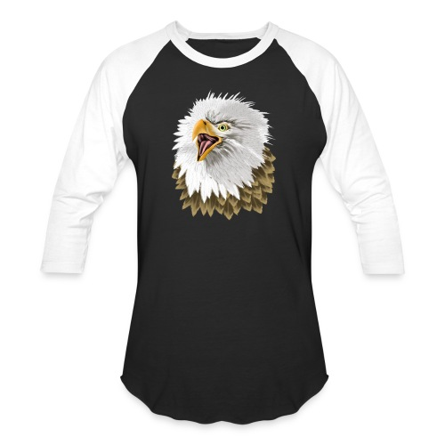 Big, Bold Eagle - Unisex Baseball T-Shirt