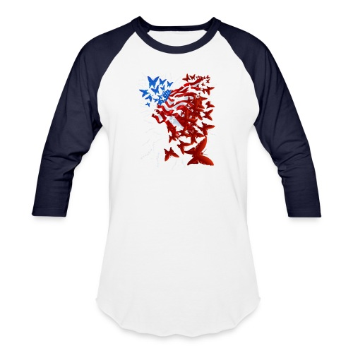 The Butterfly Flag - Baseball T-Shirt