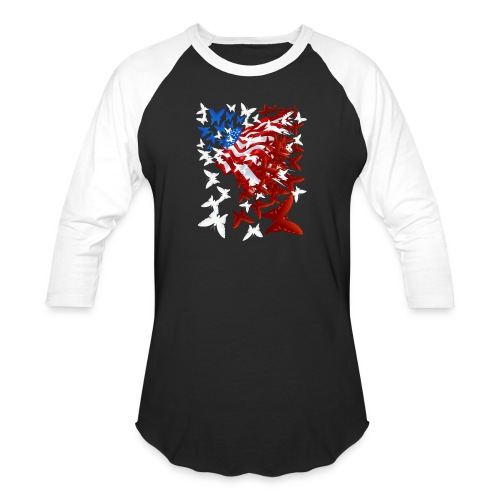 The Butterfly Flag - Baseball T-Shirt