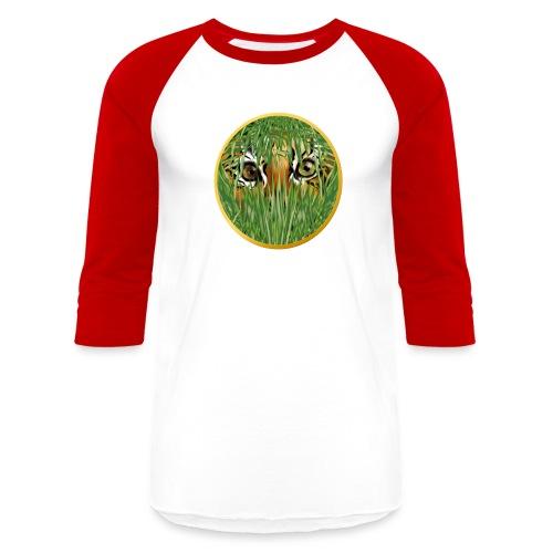 Tiger In The Grass - Baseball T-Shirt