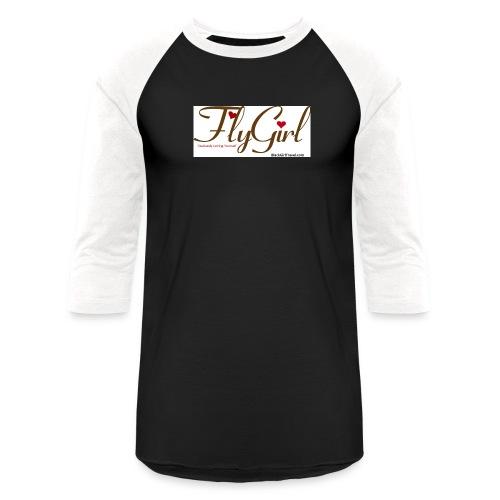 FlyGirlTextGray jpg - Unisex Baseball T-Shirt