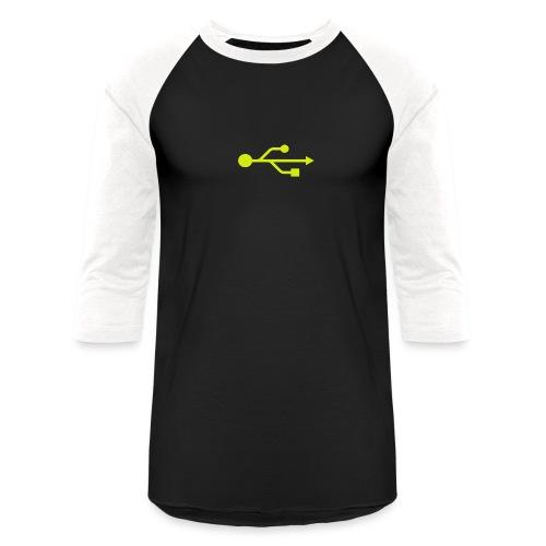 Yellow USB Logo Mid - Baseball T-Shirt