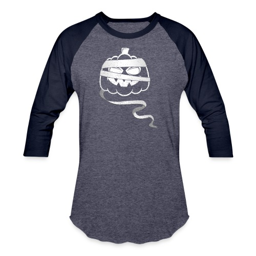 Halloween Bandaged Pumpkin - Baseball T-Shirt