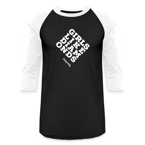 white diamonds - Unisex Baseball T-Shirt