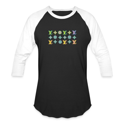 custom coloured LV pattern. - Unisex Baseball T-Shirt