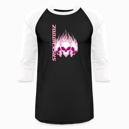 saskhoodz skull - Unisex Baseball T-Shirt