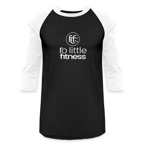 Ro Little Fitness - outline logo - Unisex Baseball T-Shirt
